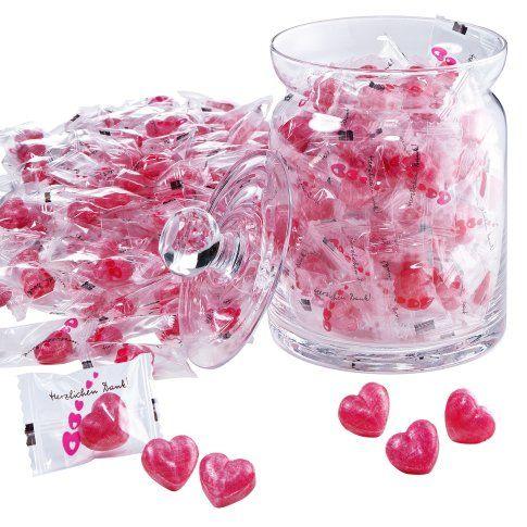 1kg Herz-Bonbons für Hochzeit