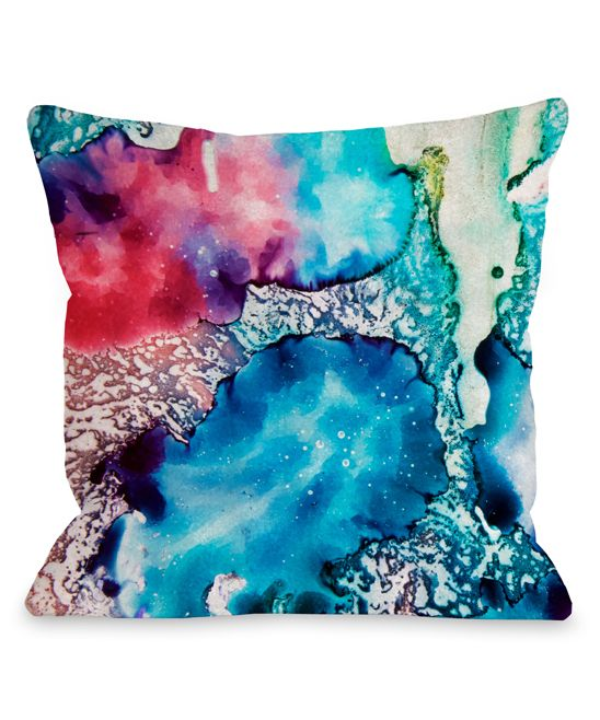 Psychedelic Color Indoor/Outdoor Throw Pillow