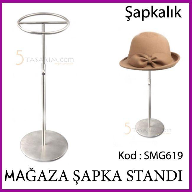 mağaza tekli krom şapka standı SMG619