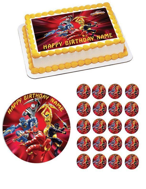 Power Rangers Edible Birthday Cake Topper OR Cupcake Topper, Decor #Unbranded #BirthdayChild