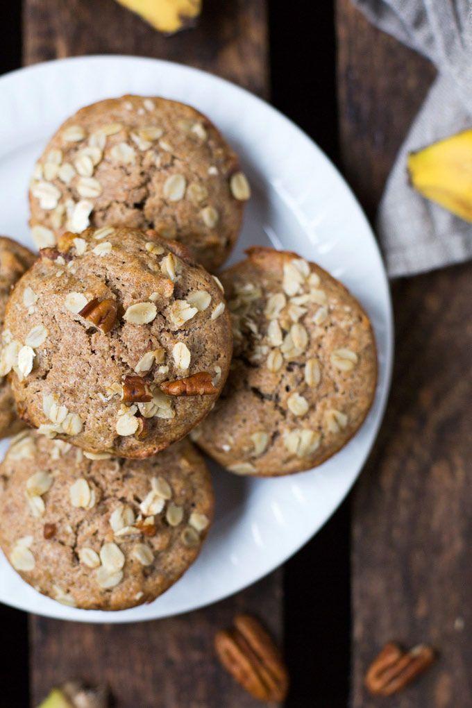 Einfache Bananenbrot Muffins ohne Zucker - Kochkarussell