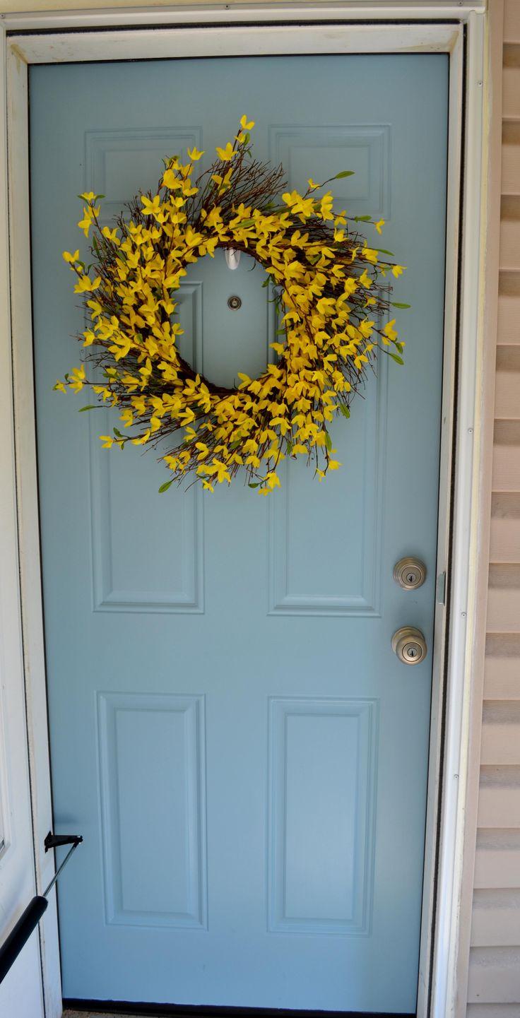 Front door color & wreath - I have that wreath too!