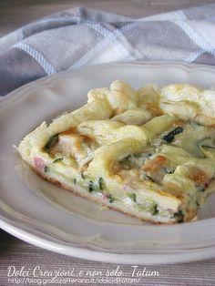torta salata di sfoglia zucchine e mozzarella