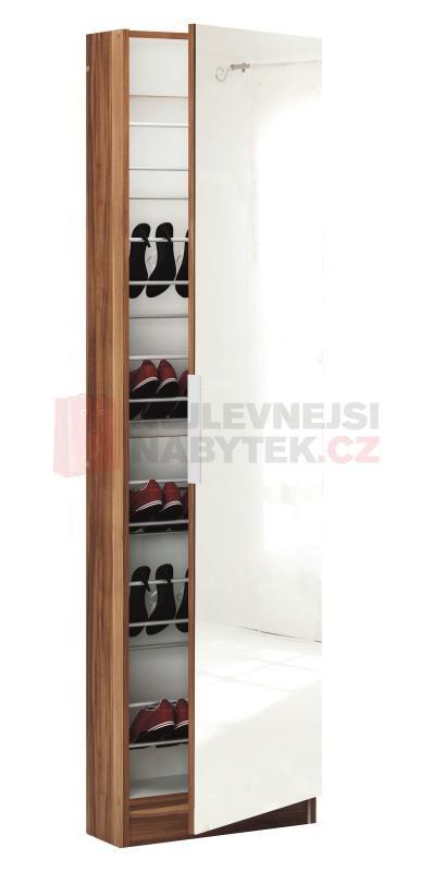 http://www.nejlevnejsinabytek.cz/skrin-obuv-zrcadlem-s305297i-orechbila-p-89134.html   botníková skříň se zrcadlem