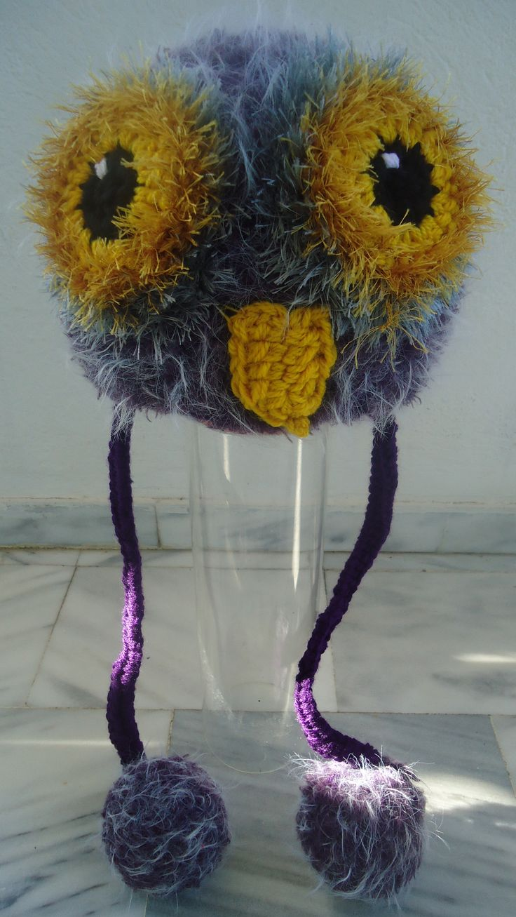 handmade crochet furry owl beanie bonnet made to order facebook/toucanbeanies