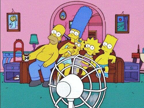 Los Simpsons pasando calor