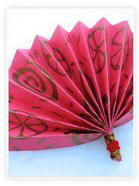 Eventail chinois en papier à fabriquer
