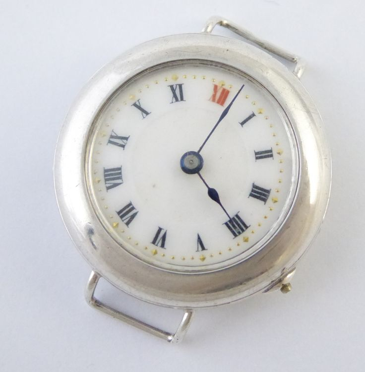WW1 1916 Sterling Silver Trench Style Wrist Watch London Silver Import Marks RESTORATION - The Collectors Bag