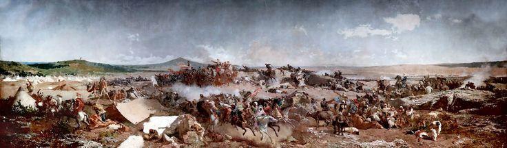 IMG_5087S Maria Fortuny.(Mariano Fortuny  y Marsal)  1838-1974.  Barcelone Paris Rome.   La battalla de Tetuan. The battle of Tetouan. 1866.  Barcelone  Museu Nacional d'Art de Catalunya (MNAC)