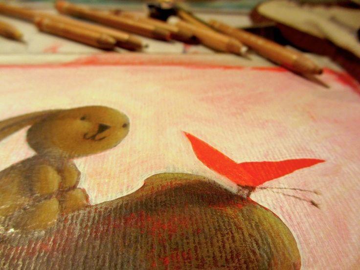 """Work in progress on """"Ciacio in Amazonia"""" picture book"""