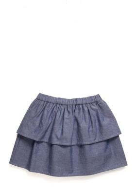 J. Khaki  Chambray Tiered Scooter Toddler Girls