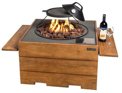Vuurwerk aan tafel! Trendy tuintafels met een ingebouwd gasvuur plus de mogelijkheid om de tafel met een losse grillplaat als barbecue te gebruiken. Op koele avonden in het voor- en najaar brengt vuur warmte, maar vooral ook sfeer en gezelligheid! Happy Cocooning