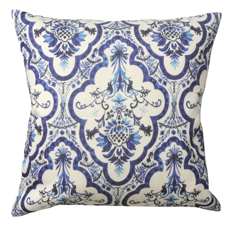 Blue%20and%20White%20Floral%20Cushion%20CoverAn%20elegant%20floral%20and%20geometric%20design%20in%20blue%20and%20white%20adds%20sophistication%20and%20a%20pop%20of%20colour%20to%20any%20room.%20Looks%20great%20combined%20with%20other%20blue%20and%20white%20styles!-%20Size:%2045cms%20x%2045cms%20-%20Material:%20100%%20Cotton%20Linen-%20Durable,%20heavy%20texture%20and%20comfortable%20feel%20-%20Concealed%20size%20zipper%20-%20Inserts%20are%20not%20included