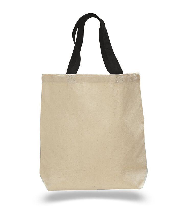 Cotton Canvas Tote Bags wholesale,Contrast Handles wholesale tote bags