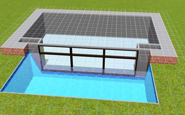 Mod the sims building an aquarium pool in s3 the sims for Pool design sims 4