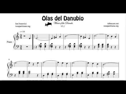Olas del Danubio Partitura de Piano Fácil Principiantes – YouTube