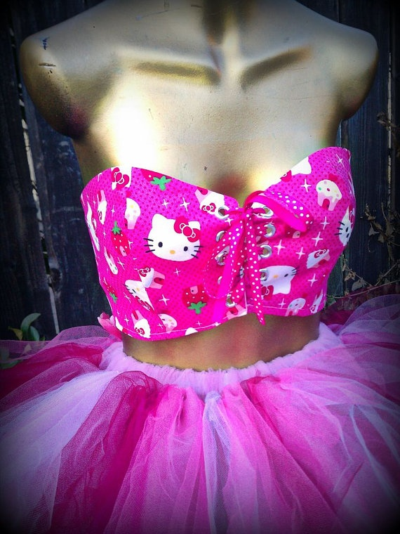 Corset Hello Kitty  adult hello kitty clothes adult by TutuHot, $40.00