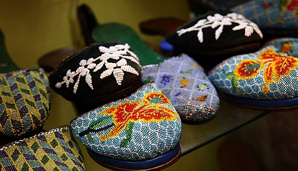 Peranakan beaded slippers