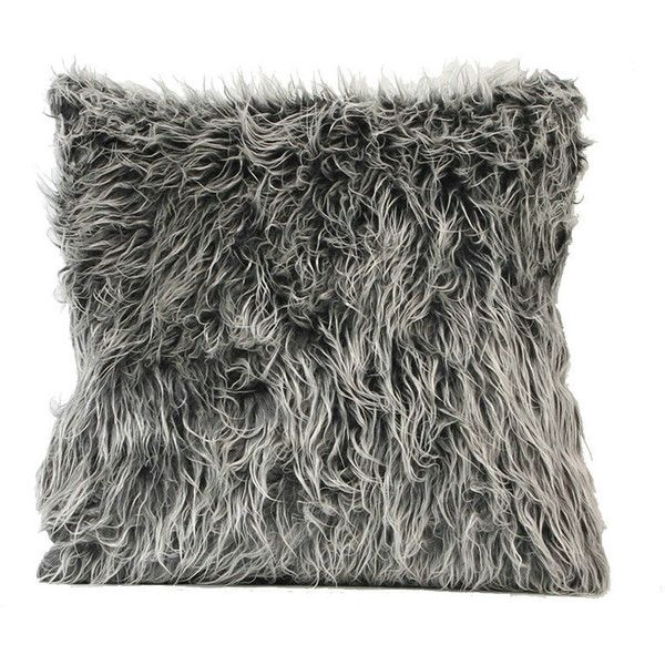 European Simple Faux Fur Fuzzy Dark Grey Pillow Cover ($18) ❤ liked on Polyvore featuring home, home decor, throw pillows, fur pillows, home textiles, throws & pillows, faux fur throw pillows, european home decor, euro throw pillows and charcoal throw pillows