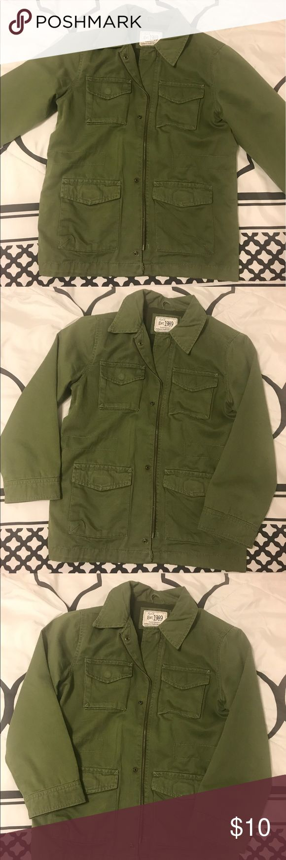 Green utility jacket ! Purchased from the children's place in the boys section but fits a small in women's Children's Place Jackets & Coats