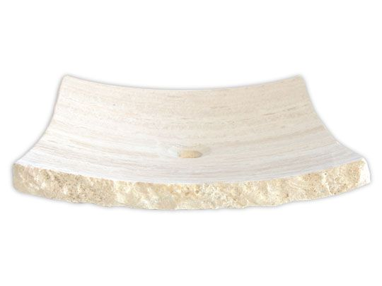 Large White Sink : White Travertine Zen Sink Large Chic Vessel Sinks