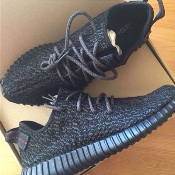 Adidas Yeezy 350 Boost Black Kids Shoes Fitting