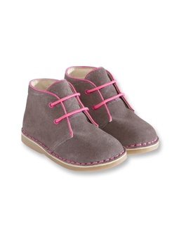 Cute suede booties - kids shoes