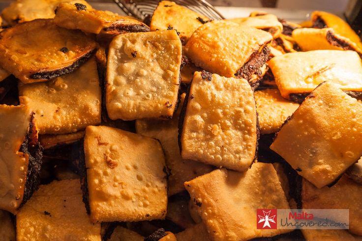 Freshly fried Imqaret - a typical Maltese sweet.