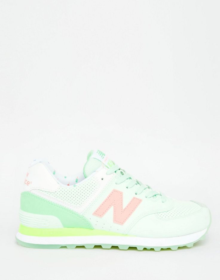 Image 2 of New Balance 574 Mint Green Trainers