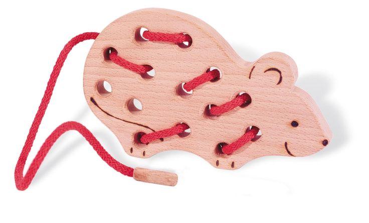 Fädeltier 'Maus' - Spielwaren / lacing game