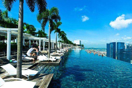 Я УЕЗЖАЮ! Сингапур. Бассейн на крыше небоскреба!