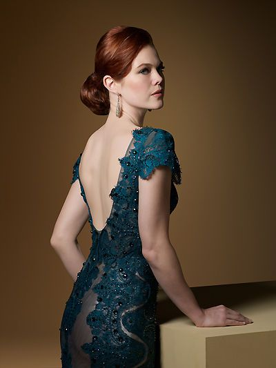 Teal Blue Evening Dress