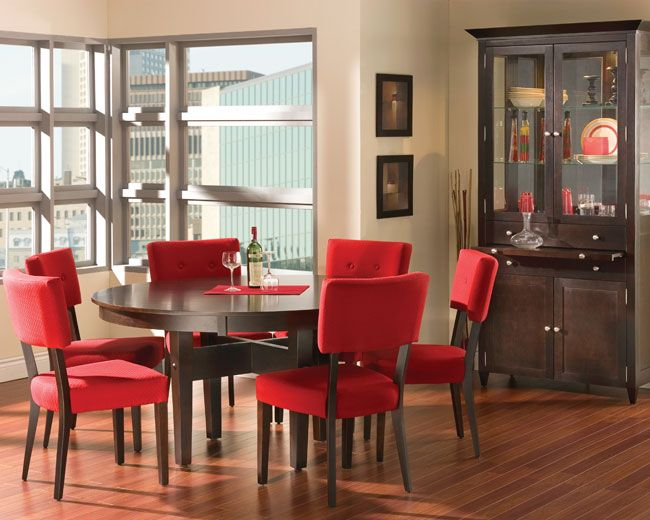 We love Canadian Made Bermex Solid Wood Casual Dining.