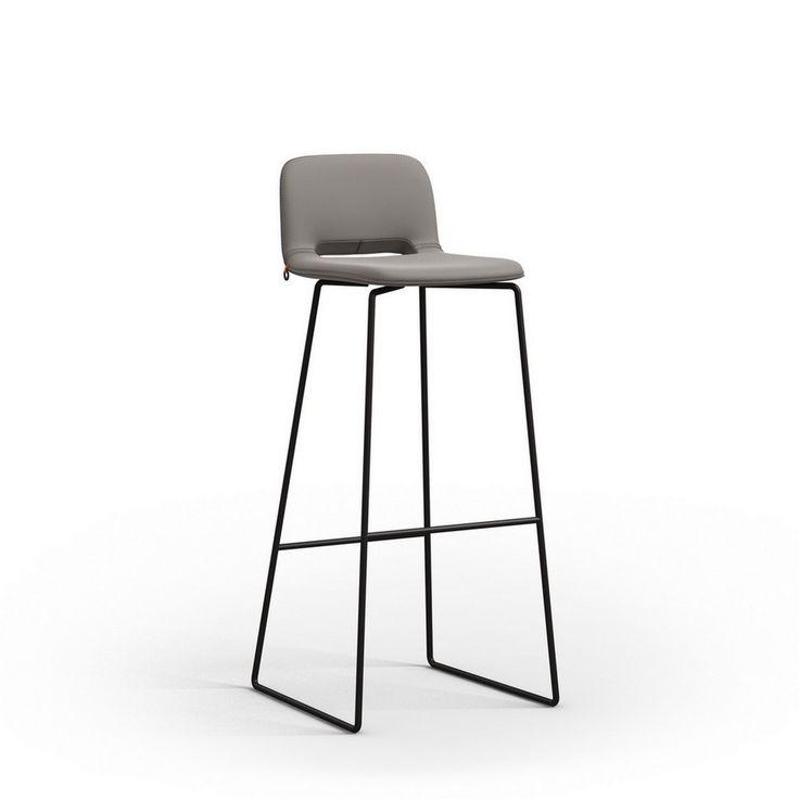 Design Barhocker Stoff Grau   Barhocker   Sitzgelegenheiten