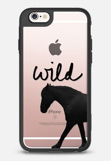 """Wild"" + Wild Horse (Cutout) iPhone 6s case by 3 Red Threads 