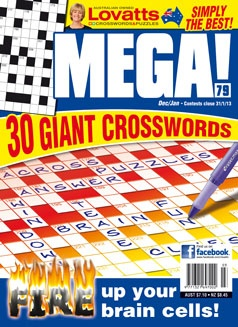 Mega Crosswords is perfect for those of you who enjoy crosswords and nothing but crosswords! There are over 5000 clues per issue...