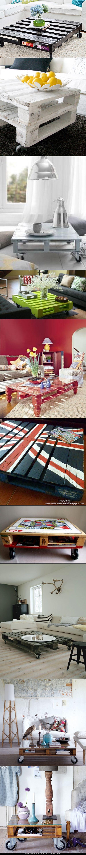 TOP-10 Home Decor DIY PALLET COFFEE TABLES