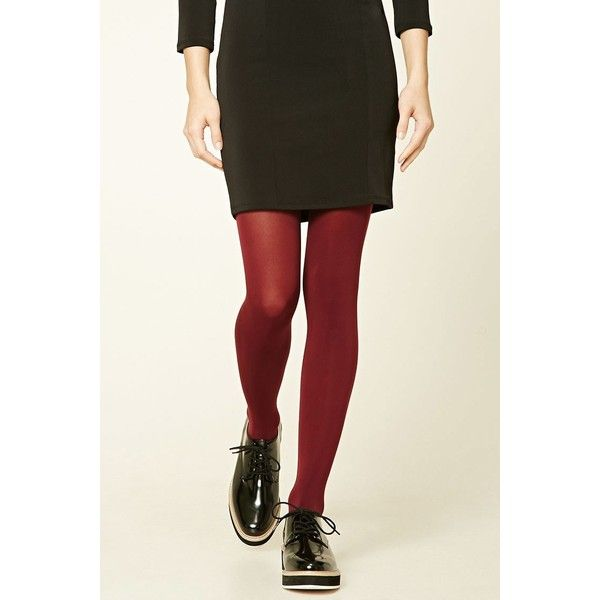 Forever21 Opaque Tights - 2 Pack ($11) via Polyvore featuring intimates, hosiery, tights, opaque pantyhose, colorful stockings, multi colored tights, colorful tights and opaque stockings