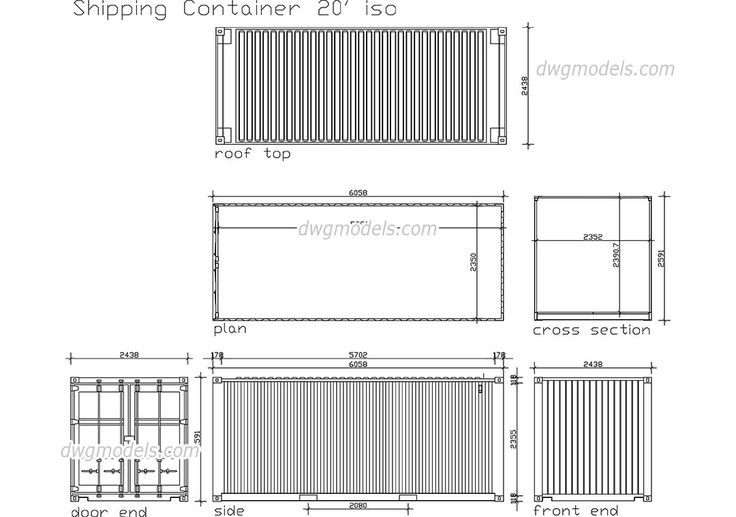Shipping Container Cad Drawings In 2019 Plan B