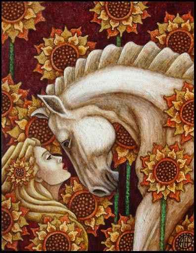 Rhiannon is the Celtic/ Welsh Goddess of the earth and fertility, of horses and birds and inspiration and moon
