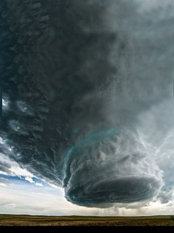 Life and death of a thunderstorm supercell