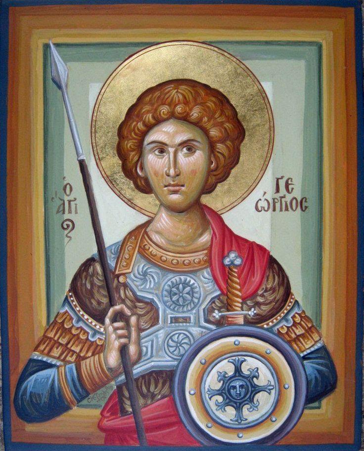Άγιος Γεώργιος, φορητή εικόνα του Δημήτρη Σκουρτέλη / Saint George, portable icon by Dimitris Skourtelis