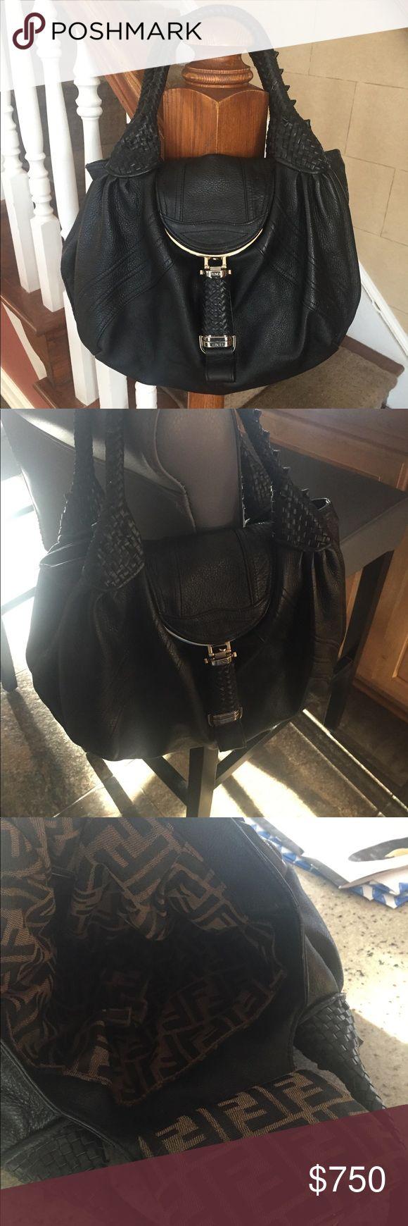 Fendi Spy Bag! 💕💕 Gorgeous iconic Fendi Spy buttery soft leather Fendi F logo lining braided leather handles supple lovely 😊 Fendi Bags
