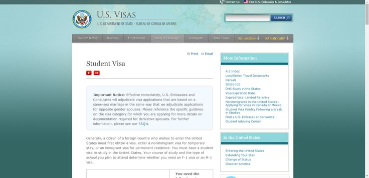 Student Visa Information- applying, scheduling your interview, required documentation. Provided by the Dept. of State