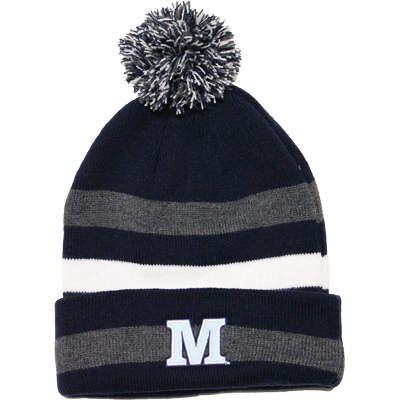 LogoFit™ Striped M Pom Pom Hat