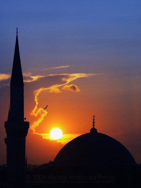 Maghrib by Melissa Penta, via 500px - A sunset over a mosque from the roof of Hotel Sultanha, Istanbul, Turkey.