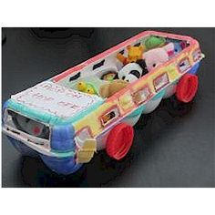 Image of Recycled Hop on Hop Off Bus, egg carton, craft, recycle, primary…