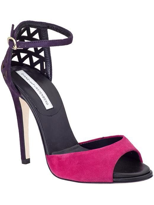 Pin for Later: The Shoes You Need to See at Piperlime's Big Sale  Diane von Furstenberg Rowan pink and purple heel sandals ($279, originally $398)