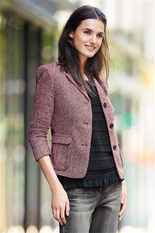 Berry Herringbone Jacket