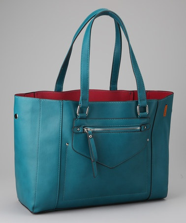 Peacock Blue Classic Satchel by David Jones - love!